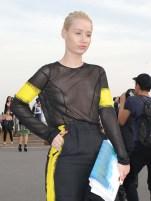 Iggy Azalea arrives at Maison Martin Margiela for Paris Fashion Week