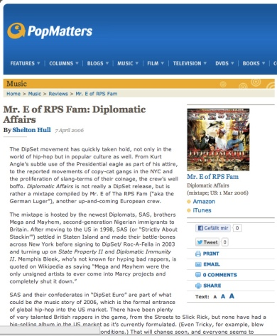 Mr. E at Popmatters Magazine
