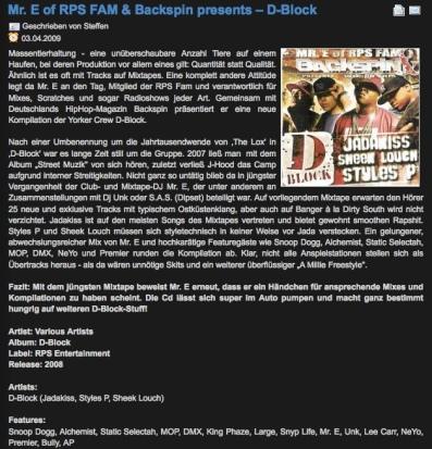 Mr. E - D-Block Compilation Review