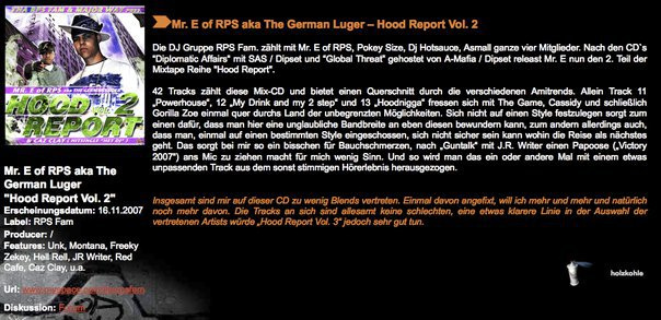 Mr. E Hood Report Mixtape Review